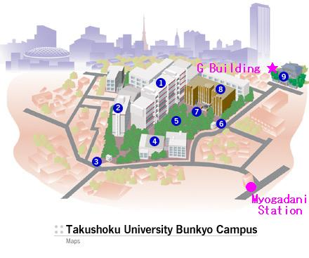 Maps - Takushoku University Bunkyo Cumpus